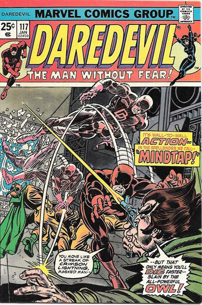 Daredevil Comic Book #117 Marvel Comics 1975 NEAR MINT