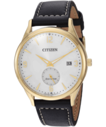 Citizen Men's Eco-Drive Stainless Steel Quartz Leather  Strap Black Casu... - $115.00