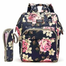 Diaper Bag Backpack Floral Baby Bag Water-Resistant Baby Nappy Bag With Insulate