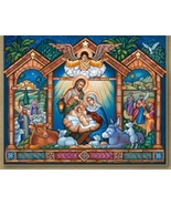 "Come Let Us Adore Him Icon - Wooden Plaque - 10"" x 8""  - $51.95"