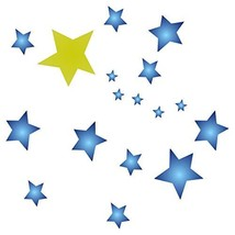 Stars Stencil - 6.5 x 6.5 inch (S) - Large Reusable Stars Sky Cluster Al... - $16.79
