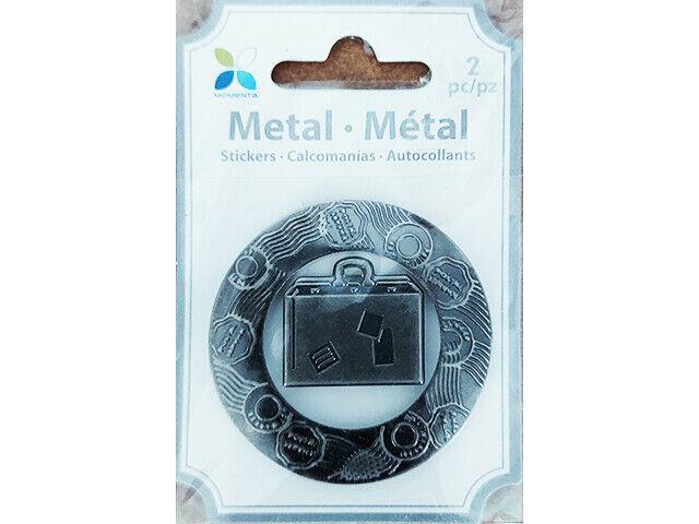 Momenta Metal Travel Stickers, Set of 2 #4431