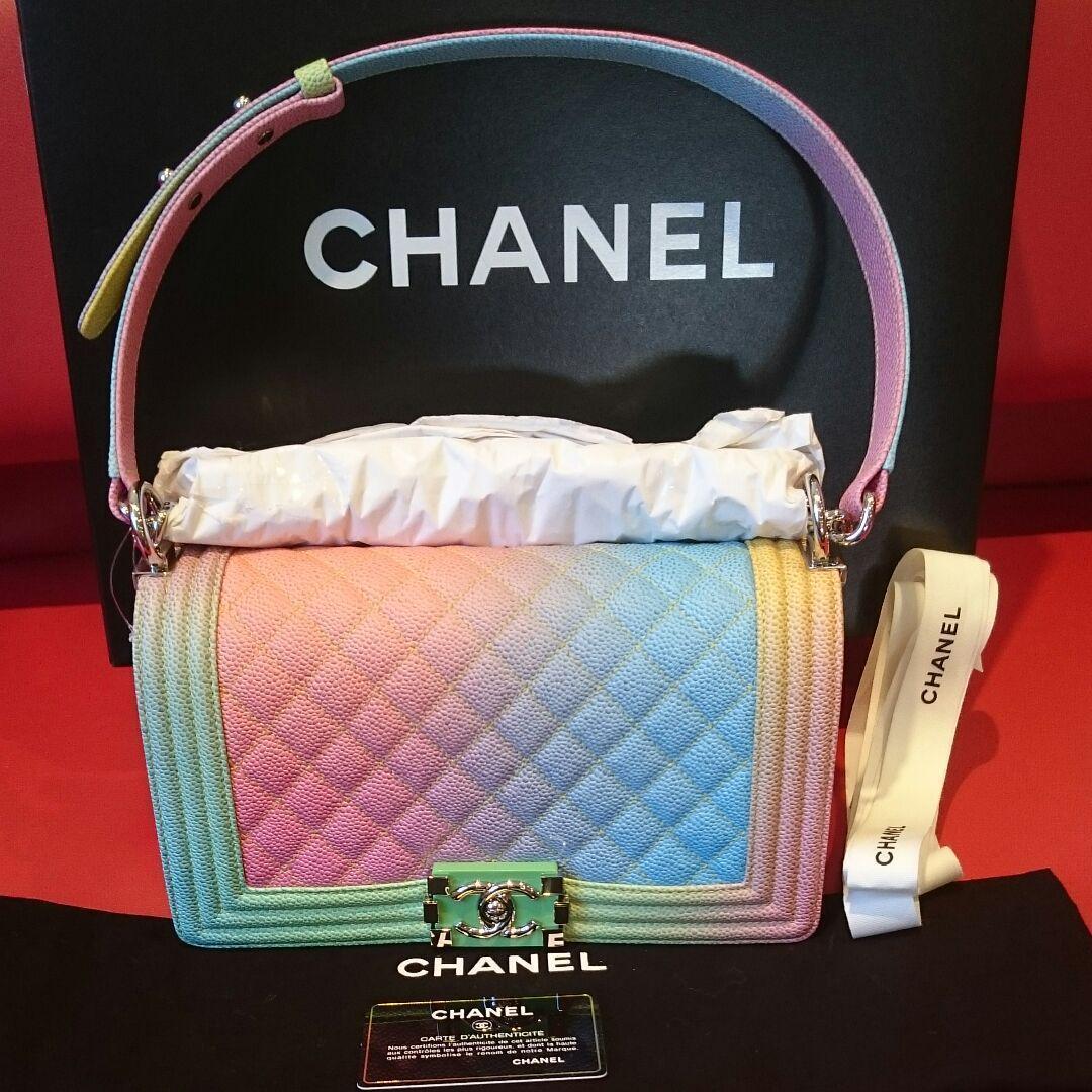 54e2e5dbb271 Chanel Boy Shoulder Bag Rainbow Pouch Woman and 50 similar items. 57