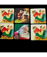 "Vintage Coca Cola 2000 Santa Christmas 3.5""x 3.5"" Square Coasters Set of 6 - $12.00"