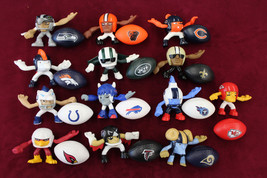 McDonald Rush Zone LOT 12 PLAYERS W/ BALLS Happy Meal Players Rams Chief... - $59.39