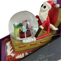 Nightmare Before Christmas Light Up Musical Water Globe Tim Burton Disney Sleigh - $53.23