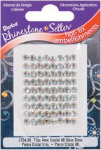 Rhinestone Setter Hot Fix Glass Stones 4 mm Crystal Ab - $15.00