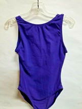 Body Wrappers 151 Girls Large 12-14 (Fits 8-10) Purple High Neck Tank Leotard - $9.89