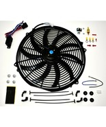 A-TEAM 16 INCH ELECTRIC RADIATOR COOLING FAN  12v 3000cfm RELAY THERMOST... - €35,09 EUR