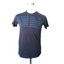 Armani Jeans Men Graphic navy blue cotton t-shirt size S Regular Fit AJ Tee - $58.15