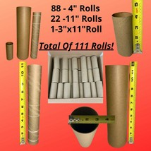 111 Empty Cardboard Toilet Paper & Paper Towel Tube Rolls for Crafts, Cr... - $19.75