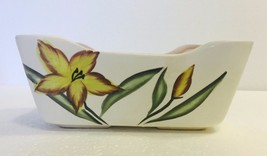 Vintage Ceramic Hand-Painted Planter Plant Potter w/ Floral Design Uniqu... - $16.44