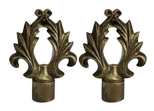 Urbanest Set of 2 Calvinia Lamp Finials, 2 5/8-inch Tall, Antique Gold