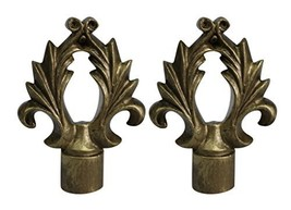 Urbanest Set of 2 Calvinia Lamp Finials, 2 5/8-inch Tall, Antique Gold - $19.79