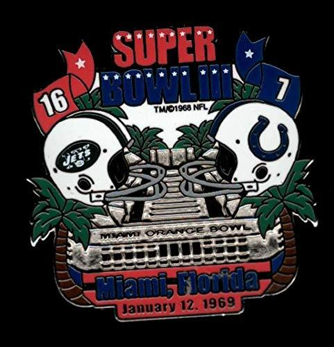Primary image for Jets vs. Colts Super Bowl 3 Final Score Pin Willabee & Ward SB III