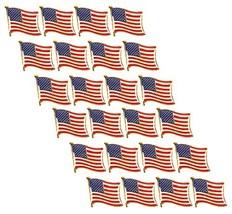 American Flag Lapel Pins - 24-Pack USA Pins, Patriotic US Flag Pins for ... - $14.55