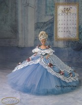 1997 Miss July Royal Ballgowns, Annie Potter Crochet Doll Clothing Pattern - $7.95
