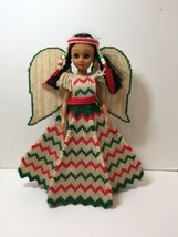 "Native America Indian Angel Doll in Plastic Canvas Dress 14"" - $29.02"