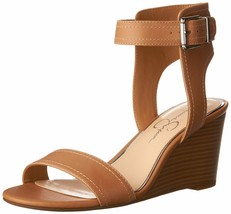 Jessica Simpson Women's Cristabel Wedge Sandal 9.5 Buff - $40.10