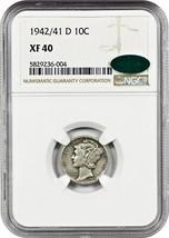 1942/1-D 10c NGC/CAC XF40 - Scarce Overdate Variety - Scarce Overdate Va... - $630.50