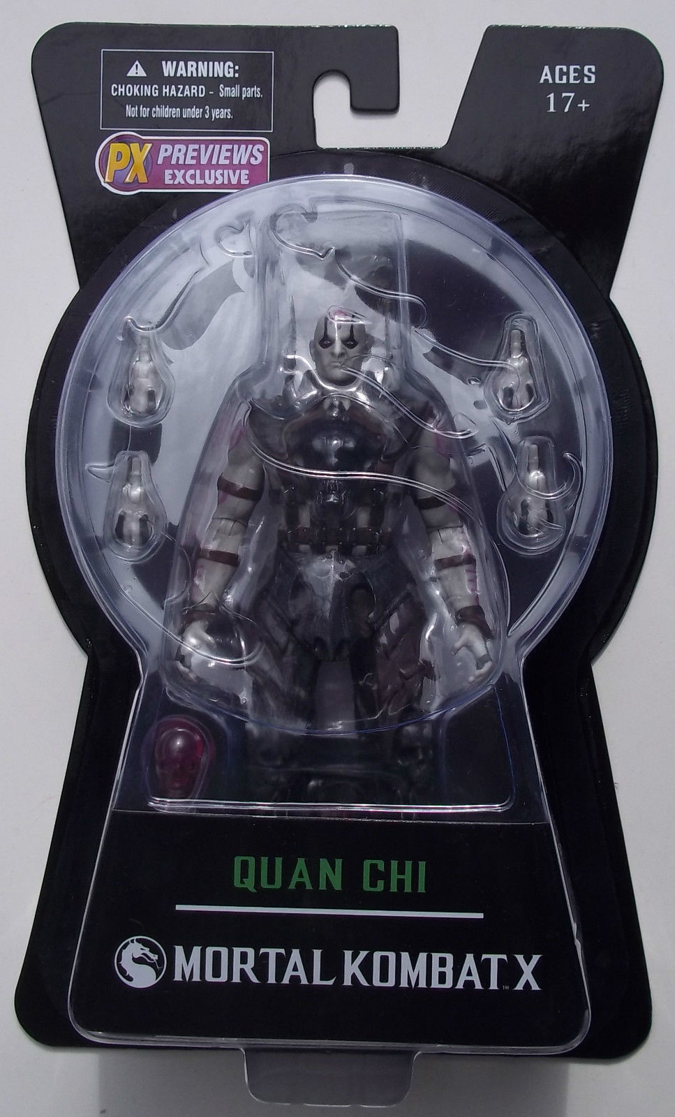 "MORTAL KOMBAT X QUAN CHI ACTION FIGURE. PREVIEWS EXCLUSIVE ""SORCERER"" VARIANT."