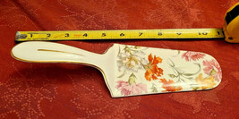 BEAUTIFUL VINTAGE GERMAN PORCELAIN  FLOWERS CAKE PIE SERVER MADE IN GERMANY
