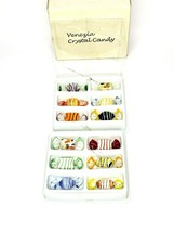 Venezia Crystal Candies 12 Piece Set Colorful Blown Glass Art Vintage Or... - $21.06