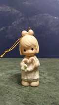Vintage 1997 Precious Moments Little Girl Valentine Bisque Porcelain Figurine. - $9.80