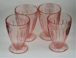 "Set of 4, Sierra aka Pinwheel, Pink,  4.5"", 9 oz., Footed Tumblers, made by Jean - $160.00"