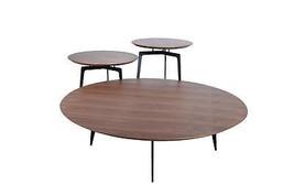 VIG Modrest Jetson Modern Walnut Coffee Table Set 3Pcs Contemporary - $1,099.00