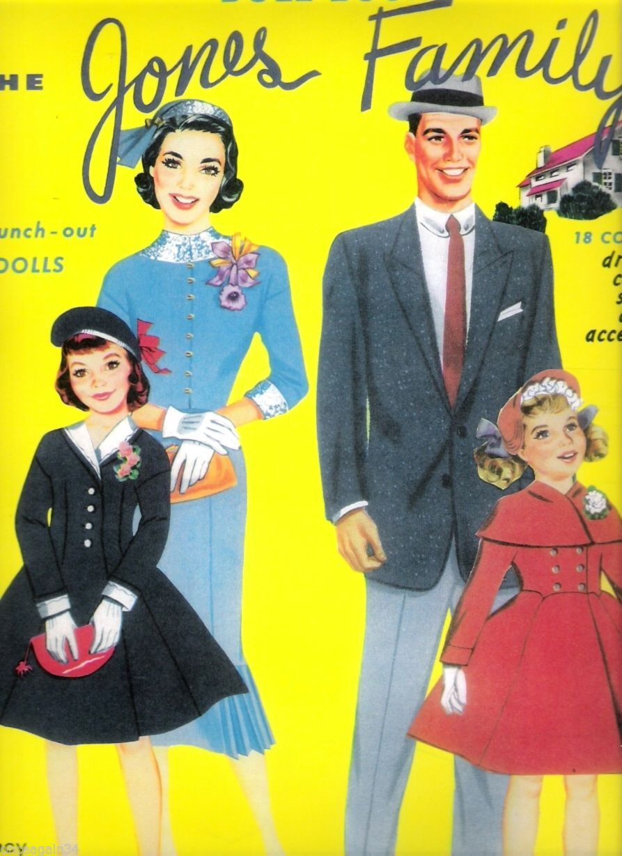 VINTAGE UNCUT 1963 TEEN TIME PAPER DOLLS~#1 REPRODUCTION~8 PAGES CLOTHING!