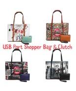 Nicole Lee USA USB Shopper Bag & Clutch Set - $80.00