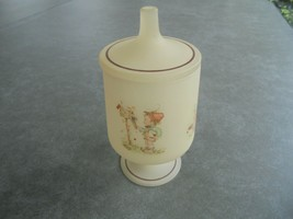 """Hummel Frosted Candy Jar with Lid 7 1/2"""" Tall - $13.86"""