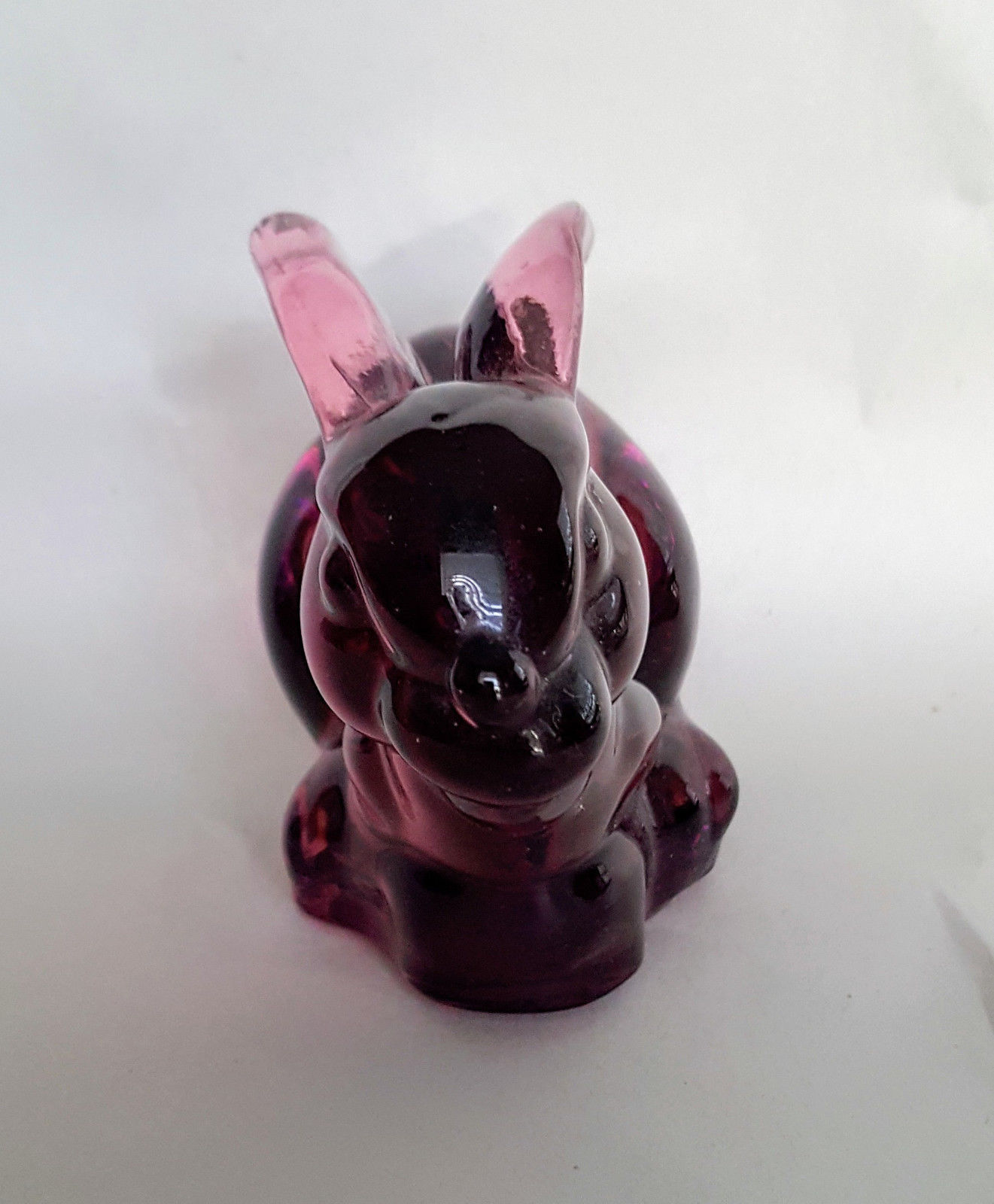 Silvestri Amethyst Glass Bunny Rabbit Sitting Figurine Animal Paperweight image 2