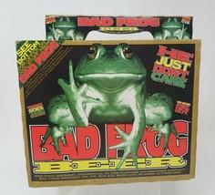 Vintage Bad Frog Beer 6 Bottle Carrying Cardboard Case - $11.87