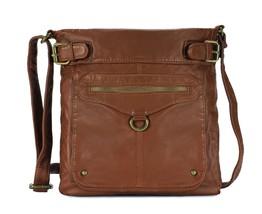 Scarleton Trendy Duo Belt Accent Crossbody Bag H197804 - Brown - $17.17