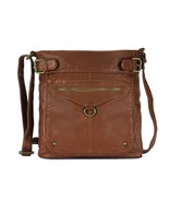 Scarleton Trendy Duo Belt Accent Crossbody Bag H197804 - Brown - $17.17