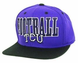 adidas TCU Horned Frogs Football Snapback Adjustable Cap Hat - $9.85