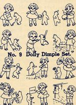 1930s Embroidery Iron-on Transfers Dolly Dimple Quilt Depression 30s Prohibition - $4.99