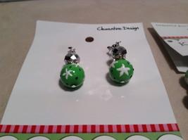 NEW Kate & Macy Green Hand Painted Glass Bracelet/Earring Set image 2