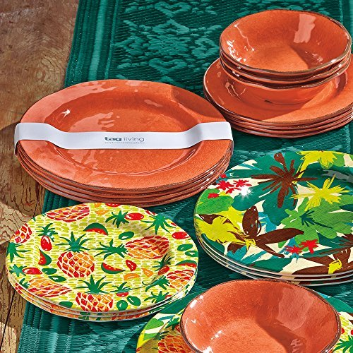 tag - Veranda Melamine Dinner Plate, Durable, BPA-Free and Great for Outdoor or  image 5