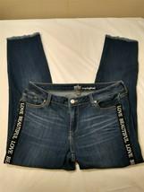 Soho Jeans Women's Curvy Boyfriend Fit jeans Size 6 31X26 Blue Love Beau... - $15.78