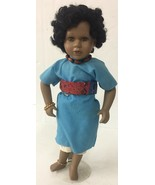 Vintage Antique Ashley Belle Porcelain Collectible Doll African American... - $18.69