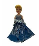"Disney Store Cinderella 20"" Plush Doll Blue Dress - $16.95"