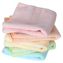Home-X Microfiber Washcloths in Pastel Colors. Set of 5 Wash Cloths - $10.99