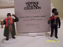Dept 56 Dickens Town Crier & Chimney Sweep Retired Set 2 #55697 - $15.84