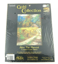 Candamar Designs Counted Cross Stitch Kit After the Harvest Gold Collection - $28.45