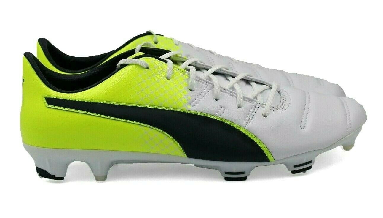 baea78670 PUMA evoPOWER 1.3 Lth FG Men's Soccer Cleats - White - Size 13 - NEW  Authentic - $65.44