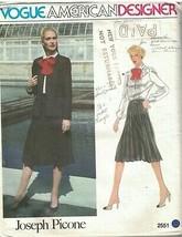 2551 UNCUT Vogue Sewing Pattern Misses Jacket Skirt Blouse Joseph Picone... - $19.99