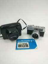 Vintage Minolta HI-MATIC-9 Easy Flash Film Camera. Rokkor-PF 45mm w/ cas... - $54.22